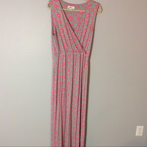 Vineyard Vines Sleeveless Cross Top Maxi Dress